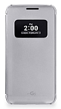 Voia LG G5 Uyku Modlu Pencereli Silver Kılıf