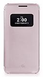 Voia LG G5 Uyku Modlu Pencereli Rose Gold Kılıf