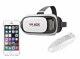 VR BOX iPhone SE / 5 / 5S Bluetooth Kontrol Kumandalı 3D Sanal Gerçeklik Gözlüğü