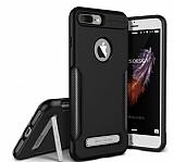 VRS Design Carbon Fit iPhone 7 Plus Ultra Koruma Siyah Kılıf