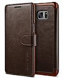 VRS Design Dandy Layered Leather Samsung Galaxy Note FE Kahverengi Kılıf