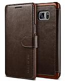 VRS Design Dandy Layered Leather Samsung Galaxy Note 7 Kahverengi K�l�f