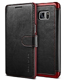 VRS Design Dandy Layered Leather Samsung Galaxy Note FE Siyah Kılıf