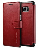 VRS Design Dandy Layered Leather Samsung Galaxy Note FE Kırmızı Kılıf