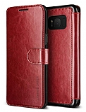 VRS Design Dandy Layered Leather Samsung Galaxy S8 Bordo Kılıf