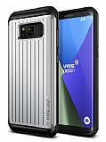 VRS Design Hard Drop Waved Samsung Galaxy S8 Light Silver Kılıf