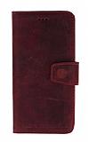 Wachikopa Leather iPhone XR Kapaklı Gerçek Bordo Deri Kılıf