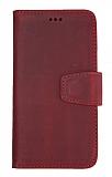 Wachikopa Samsung Galaxy S8 Plus Kapaklı Kırmızı Gerçek Deri Kılıf