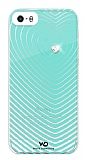 White Diamonds iPhone SE / 5 / 5S Heartbeat Ta�l� Su Ye�ili Rubber K�l�f