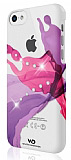 White Diamonds iPhone 5C Liquids Taşlı Pembe Rubber Kılıf