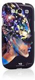 White Diamonds Samsung Galaxy S3 / S3 Neo Swarovski Ta�l� Nafrotiti Siyah K�l�f
