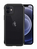 Wiwu Defens Armor iPhone 12 6.1 inç Ultra Koruma Siyah Kılıf 