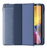 Wlons iPad 10.2 (2020) 8.Nesil Standlı Kapaklı Lacivert Kılıf