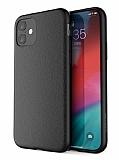 X-Doria Dash Air iPhone 11 Siyah Gerçek Deri Kılıf