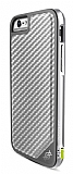 X-Doria Defense Lux iPhone 6 / 6S Ultra Koruma Silver Karbon K�l�f