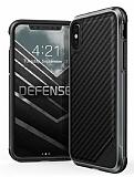 X-Doria Defense Lux iPhone X Karbon Desenli Ultra Koruma Kılıf