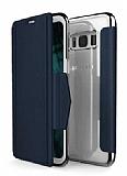 X-Doria Engage Folio Samsung Galaxy S8 Plus Manyetik Kapaklı Lacivert Gerçek Deri Kılıf