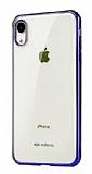 X-Doria iPhone XR Lacivert Kenarlı Şeffaf Rubber Kılıf