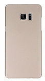 X-Level Metalic Samsung Galaxy Note FE İnce Gold Rubber Kılıf