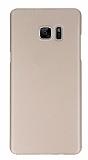 X-Level Metalic Samsung Galaxy Note FE İnce Gold Rubber Kılıf