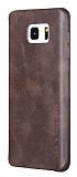 X-Level Vintage Samsung Galaxy Note 5 Kahverengi Deri Rubber Kılıf