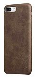 X-Level Vintage iPhone 7 Plus Deri Görünümlü Kahverengi Rubber Kılıf