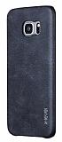 X-Level Vintage Samsung Galaxy S7 Siyah Deri Rubber Kılıf