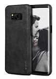 X-Level Vintage Samsung Galaxy S8 Siyah Deri Rubber Kılıf
