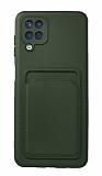 Samsung Galaxy A12 / M21 Kartlıklı Kamera Korumalı Yeşil Kılıf