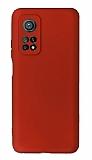 Xiaomi Mi 10T Kamera Korumalı Kırmızı Silikon Kılıf