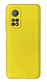 Xiaomi Mi 10T Kamera Korumalı Sarı Silikon Kılıf