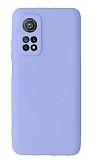 Xiaomi Mi 10T Pro Kamera Korumalı Lila Silikon Kılıf