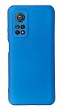 Xiaomi Mi 10T Pro Kamera Korumalı Mavi Silikon Kılıf