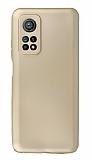 Xiaomi Mi 10T Pro Kamera Korumalı Gold Silikon Kılıf