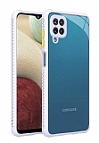 Samsung Galaxy M12 Kamera Korumalı Kaff Mor Kılıf