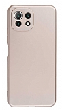 Xiaomi Mi 11 Lite Kamera Korumalı Mat Gold Silikon Kılıf