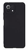 Xiaomi Mi 11 Lite Kamera Korumalı Mat Siyah Silikon Kılıf