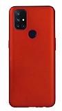 OnePlus Nord N10 5G Mat Kırmızı Silikon Kılıf