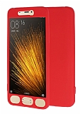 Xiaomi Mi 5 360 Derece Koruma Likit Kırmızı Silikon Kılıf