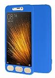 Xiaomi Mi 5 360 Derece Koruma Likit Mavi Silikon Kılıf