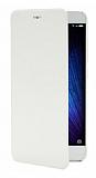 Xiaomi Mi 5 Orjinal Kapaklı Beyaz Deri Kılıf