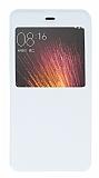 Xiaomi Mi 5 Pencereli İnce Kapaklı Beyaz Kılıf