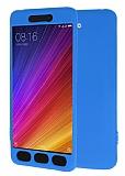 Xiaomi Mi 5s 360 Derece Koruma Likit Mavi Silikon Kılıf