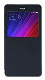 Xiaomi Mi 5s Plus Pencereli İnce Kapaklı Siyah Kılıf