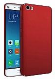 Xiaomi Mi 5s Tam Kenar Koruma Bordo Rubber Kılıf