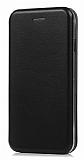 Xiaomi Mi 5X / Mi A1 Curve Manyetik Kapaklı Siyah Deri Kılıf