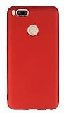 Xiaomi Mi 5X Mat Kırmızı Silikon Kılıf