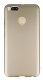 Xiaomi Mi 5X / Mi A1 Tam Kenar Koruma Gold Rubber Kılıf