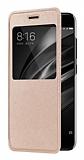 Xiaomi Mi 6 Pencereli İnce Kapaklı Gold Kılıf