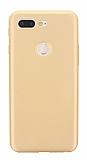 Xiaomi Mi 8 Lite Mat Gold Silikon Kılıf